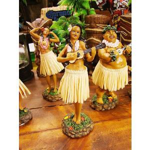ハワイアンフラドールのフィギュア(ウクレレ) ハワイ雑貨 ハワイアン雑貨 インテリア アメリカ雑貨 おしゃれ 人気 通販 アメ雑貨