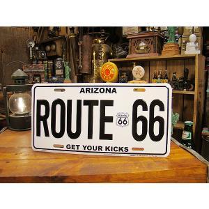 ルート66のナンバープレート(GET YOUR KICKS/アリゾナ) アメリカ雑貨 アメリカン雑貨|candytower