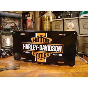 ハーレーダビッドソンのライセンスプレート(バーティカルストライプ) アメリカ雑貨 アメリカン雑貨|candytower