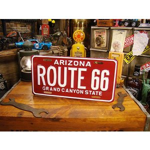 ルート66のライセンスプレート(アリゾナ) アメリカ雑貨 アメリカン雑貨|candytower
