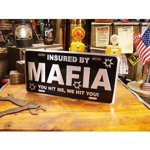 マフィアのライセンスプレート アメリカ雑貨 アメリカン雑貨|candytower