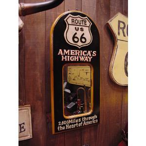 ルート66のウッドミラーボード アメリカ雑貨 アメリカン雑貨|candytower