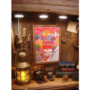 ポスターフレーム(キャンベルスープ) アメリカ雑貨 アメリカン雑貨 おしゃれ インテリア雑貨 ポスター 人気 壁掛け|candytower