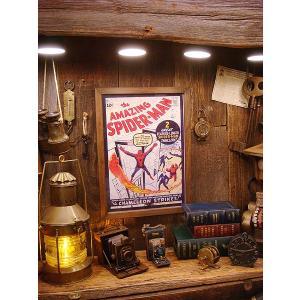 ポスターフレーム(アメージングスパイダーマン) アメリカ雑貨 アメリカン雑貨 おしゃれ インテリア雑貨 ポスター 人気 壁掛け キャラクター|candytower