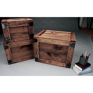 輸出用木箱 -Aタイプ-茶 LLサイズ アメリカ雑貨 アメリカン雑貨 MADE IN JAPAN 木箱 収納 アンティーク おしゃれ カントリー雑貨 ナチュラル|candytower