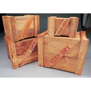 「KEEP DRY」の文字がいかにも外国から来た荷物が入ってるぞ〜と演出してくれちゃう輸出用木箱です...