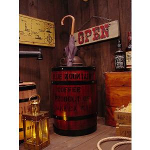 コーヒー木樽の傘立て(茶) アメリカ雑貨 アメリカン雑貨 おしゃれ カントリー雑貨 ナチュラル|candytower