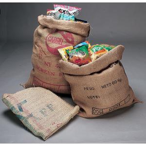 コーヒー麻袋 3枚セット 中古 USED アメリカ雑貨 アメリカン雑貨 麻袋 ジュート プランター ガーデニング 家庭菜園 植木鉢 インテリア|candytower