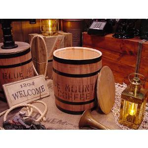 コーヒー木樽(豆だる)うす茶 アメリカ雑貨 アメリカン雑貨 おしゃれ ゴミ箱 カントリー雑貨 ナチュラル|candytower