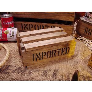 輸出用木箱を小さくしたデザインの木箱です。  雑貨やフィギア、ミニカーなどなどコレクションボックスな...