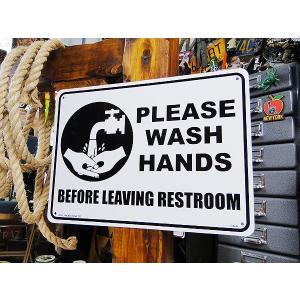 アメリカのプラスチックサインボード ヘビーオンスタイプ(手を洗いましょう) アメリカ雑貨 アメリカン雑貨|candytower