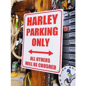 アメリカのプラスチックサインボード ヘビーオンスタイプ(ハーレー専用駐車場) アメリカ雑貨 アメリカン雑貨|candytower