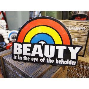 コトワザステッカー(美は見る人の中にある) アメリカ雑貨 アメリカン雑貨 車 シール ブランド おも...