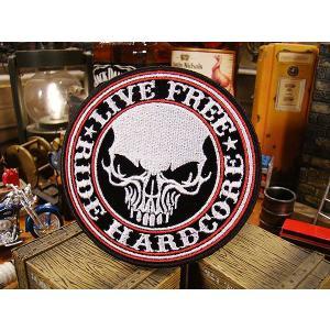 アメリカンバイカーズワッペン(Reflective Stencil Skull) アメリカ雑貨 アメリカン雑貨 アイロン 人気 ブランド おしゃれ バイク エンブレム candytower