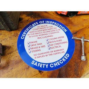 アメリカの本物の自動車点検整備済みステッカー(ブルー) アメリカ雑貨 アメリカン雑貨 車 シール ブランド|candytower