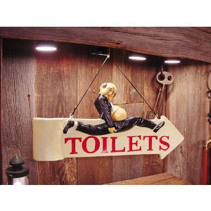 トイレはこちら!ボード アメリカ雑貨 アメリカン雑貨 壁掛け 人気 インテリア|candytower