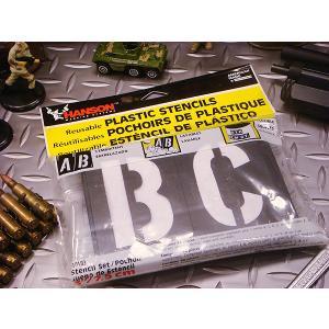 HANSON社 プラスチック・ステンシルプレート 46ピース英数字セット(3インチ) アメリカ雑貨 アメリカン雑貨|candytower