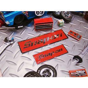 スナップオンのステッカー(レッドロゴ・四角)大小2枚セット アメリカ雑貨 アメリカン雑貨 車 シール ブランド candytower