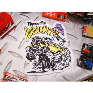 ロードランナーのワッペン(マッスルカー) アメリカ雑貨 アメリカン雑貨 アイロン 人気 ブランド おしゃれ バイク エンブレム candytower
