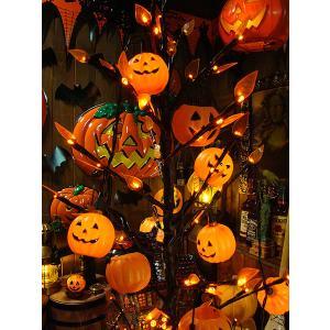 【即納】【在庫あり】ハロウィングッズ ハロウィン 10連パンプキンパーティライト ■ アメリカン雑貨 アメリカ雑貨 店舗装飾 オーナメント デコレーション 飾り|candytower