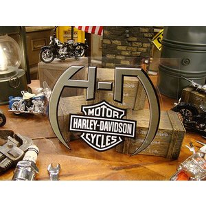 ハーレーダビッドソン ステッカーシート(HDロゴ) Lサイズ ■ アメリカン雑貨 アメリカ雑貨 harley davidson 車 シール ブランド|candytower