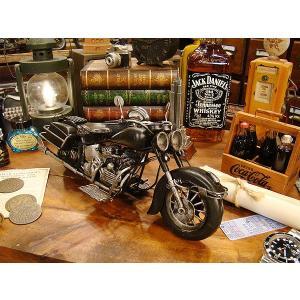 ハーレーのブリキオブジェ(ブラック) ■ アメリカン雑貨 アメリカ雑貨 harley davidson ミニカー モデルカー 男前インテリア