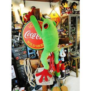 カエルのぬいぐるみ(超特大サイズ) ■ アメリカン雑貨 アメリカ雑貨 大きいサイズ ぬいぐるみ 動物 カエルグッズ  かわいい 赤目カエル|candytower
