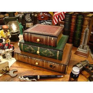 古めかしい洋書みたいな引き出し式小物入れ ■ アメリカン雑貨 アメリカ雑貨 小物入れ ブックボックス インテリア雑貨 本型 収納 アンティーク調|candytower