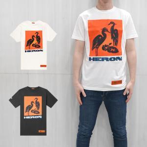HERON PRESTON Tシャツ ヘロン プレストン Tシャツ REG HERON TEE (全2色) 【HMAA004F19760003】|canetshop