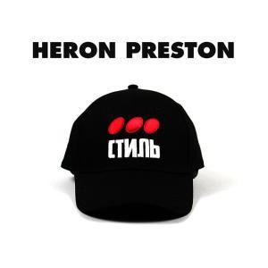 HERON PRESTON キャップ  ヘロン プレストン DOTS CTNMB CAP (BLACK) 【HMLB001F197660041088】|canetshop