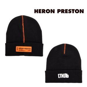 HERON PRESTON 帽子 ヘロンプレストン ニットキャップ ニット帽 CTNMB BEANIE BLACK WHITE (1001/BLACK WHITE) 【HMLC003F198540161001】|canetshop