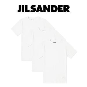 JIL SANDER ジルサンダー Tシャツ JIL SANDER+ パックT  ジルサンダープラス 白T 3PACK TEE オーガニックコットン (100 / WHITE) 【JPUP706530_MP248808】|canetshop