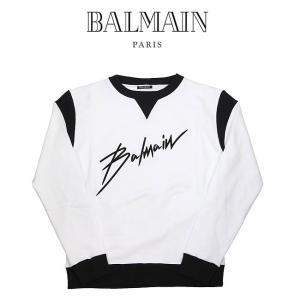 BALMAIN バルマン ロゴスウェット メンズ トレーナー Balmain Logo Printed Sweater(GAB) 【RH13153J049】 canetshop