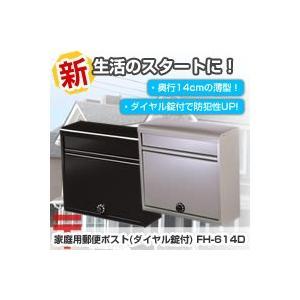 グリーンライフ 家庭用郵便ポスト(ダイヤル錠付) FH-614D