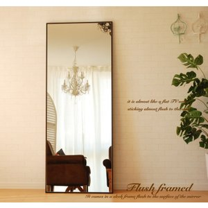 鏡 ミラー 壁掛け スタンドミラー 大型  全身 姿見 ウォールミラー  おしゃれ フラット CF-...