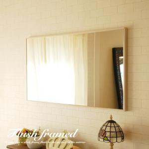 1cmの細枠フレームが クールでカッコいいスリークフレームミラー スッキリと壁におさまるシンプルなデ...
