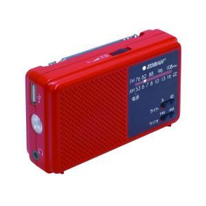 備蓄ラジオ/防災用品 〔高輝度白色LEDライト付き〕 長期保管可 AM/FM 165g|canitz