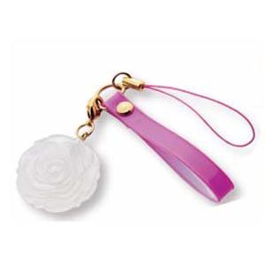 紫外線の強さが分かる 紫外線で色が変わる UVチェックストラップ(ローズ) ピンク|canitz