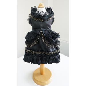 362 ブラックゴージャスドレス 犬用 ドレス きゃんナナ ブランド|cannanaonline
