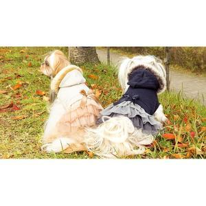 犬 服 ワンピース ファー パーカー 秋 冬 新作 2017 犬の服 ドッグウェア きゃんナナ|cannanaonline|07