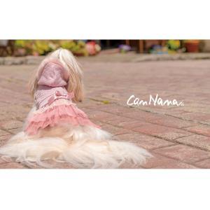 犬 服 ワンピース ファー パーカー ピンク グレー 秋 冬 2018 犬の服 ドッグウェア きゃんナナ|cannanaonline|09