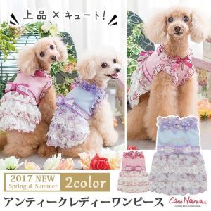 犬 服 ワンピース 花柄 夏 春  犬の服 リボン きゃんナナ ドッグウェア ブランド|cannanaonline