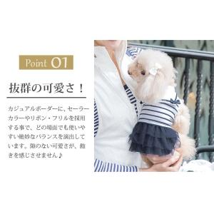 犬 服 ワンピース 夏 春 新作 ボーダー 犬の服 セーラー きゃんナナ ドッグウェア ブランド|cannanaonline|05