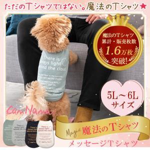 犬 服 Tシャツ 適温 アウトラスト 通年 温度調整 犬の服 5L 6L きゃんナナ ドッグウェア ブランド|cannanaonline