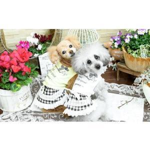 犬 服 ワンピース チェック リボン レース 春 夏  きゃんナナ ドッグウェア ブランド|cannanaonline|08