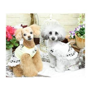 犬 服 ワンピース チェック リボン レース 春 夏  きゃんナナ ドッグウェア ブランド|cannanaonline|09