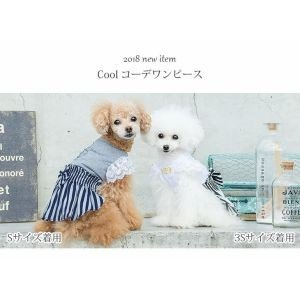 犬 服 ワンピース 春夏 犬の服  きゃんナナ ドッグウェア ブランド クール コーデワンピース|cannanaonline|09