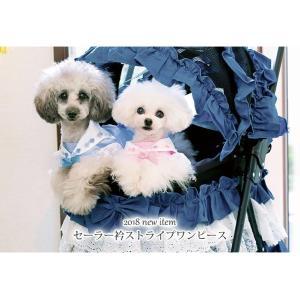 犬 服 ワンピース 夏春 ストライプ 犬の服  きゃんナナ ドッグウェア ブランド|cannanaonline|02