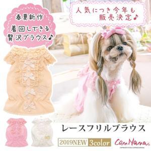 犬 服 フリル 春 夏 レース ブラウス 犬の服  きゃんナナ ドッグウェア ブランド|cannanaonline