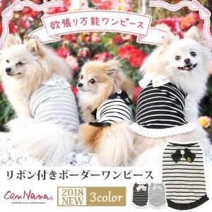 犬 服 ワンピース 夏春 ボーダー 犬の服  きゃんナナ ドッグウェア ブランド|cannanaonline